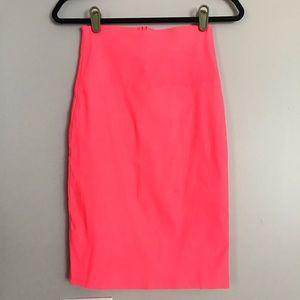 Highlighter Pink Pencil Skirt